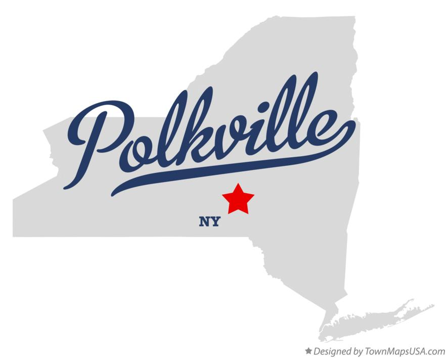 Map of Polkville New York NY