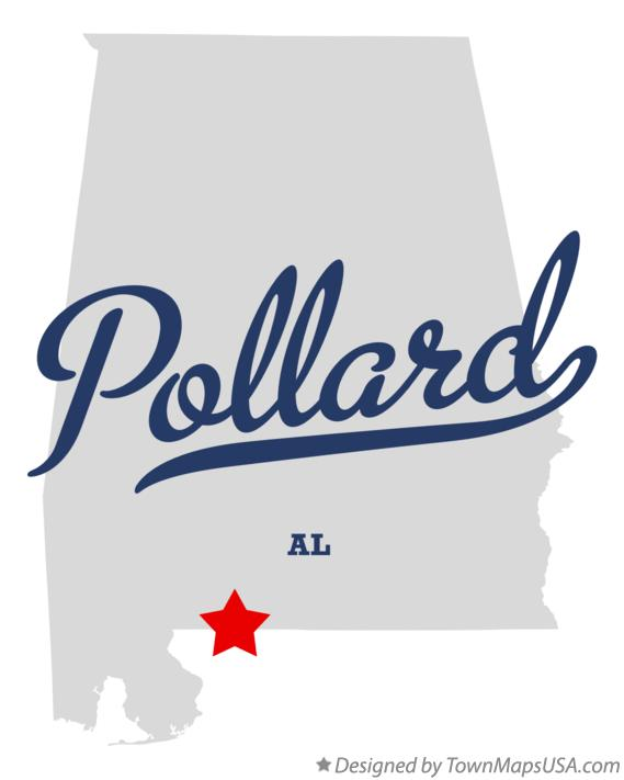 Map of Pollard Alabama AL