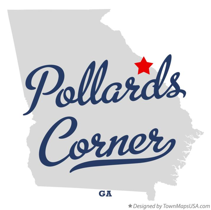 Map of Pollards Corner Georgia GA
