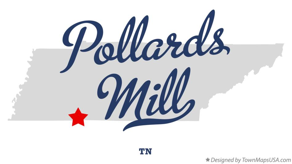 Map of Pollards Mill Tennessee TN