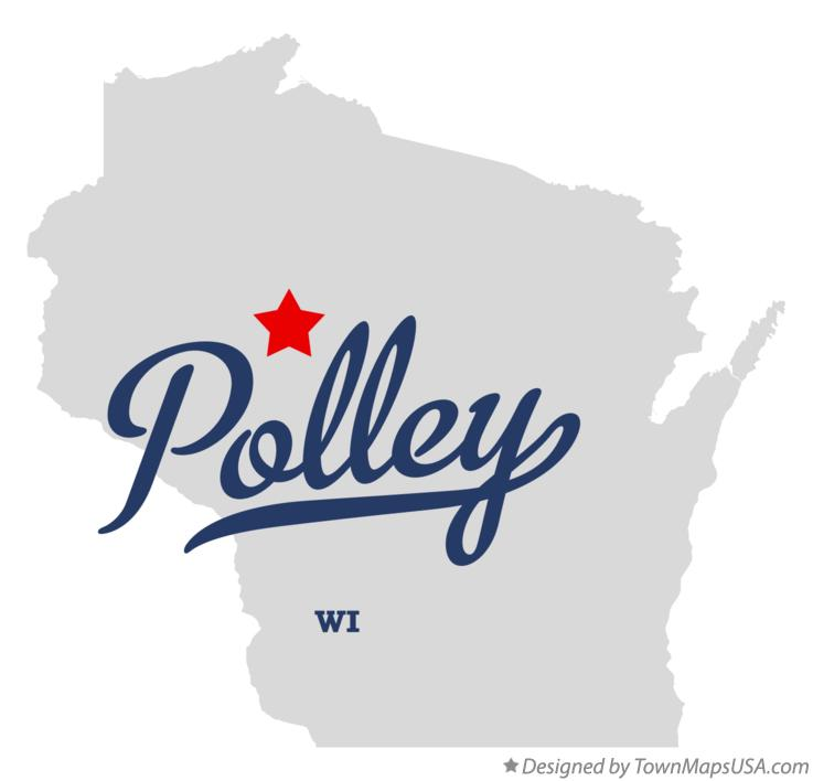 Map of Polley Wisconsin WI
