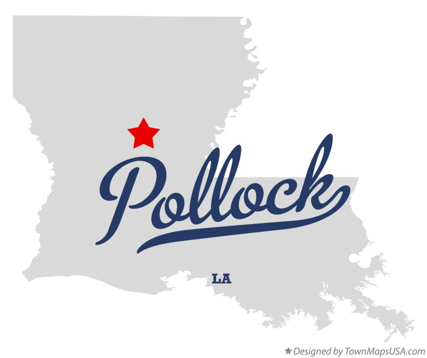Map of Pollock Louisiana LA