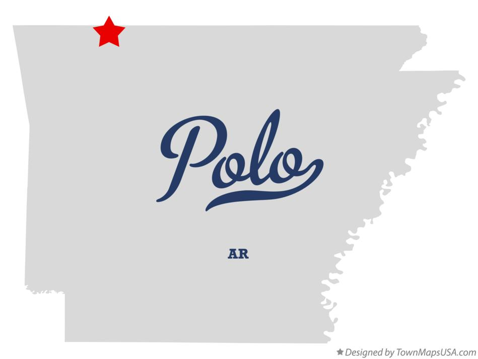 Map of Polo Arkansas AR