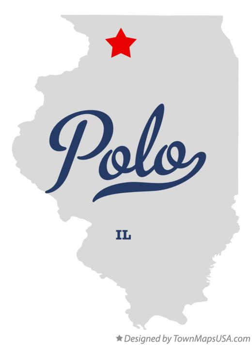 Map of Polo Illinois IL
