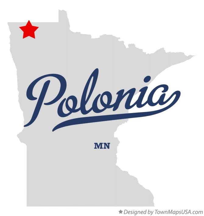 Map of Polonia Minnesota MN