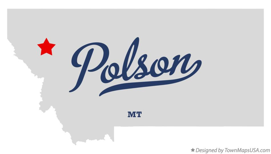 Map of Polson Montana MT