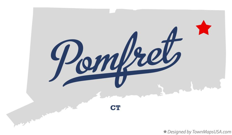 Map of Pomfret Connecticut CT