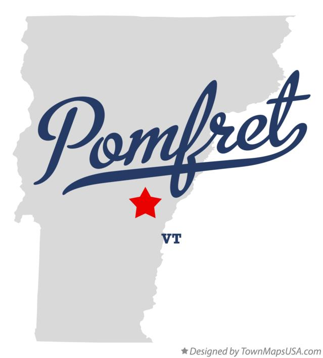 Map of Pomfret Vermont VT