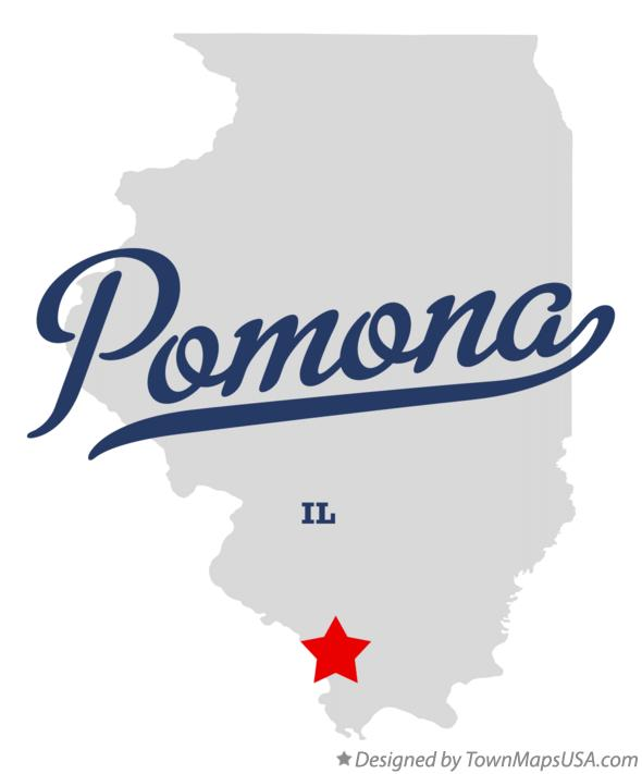 Map of Pomona Illinois IL