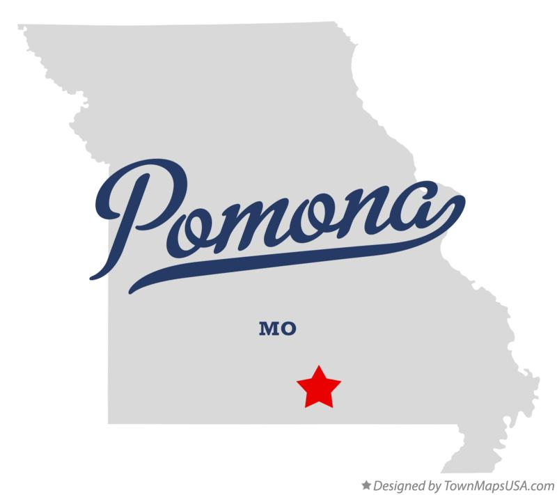 Map of Pomona Missouri MO