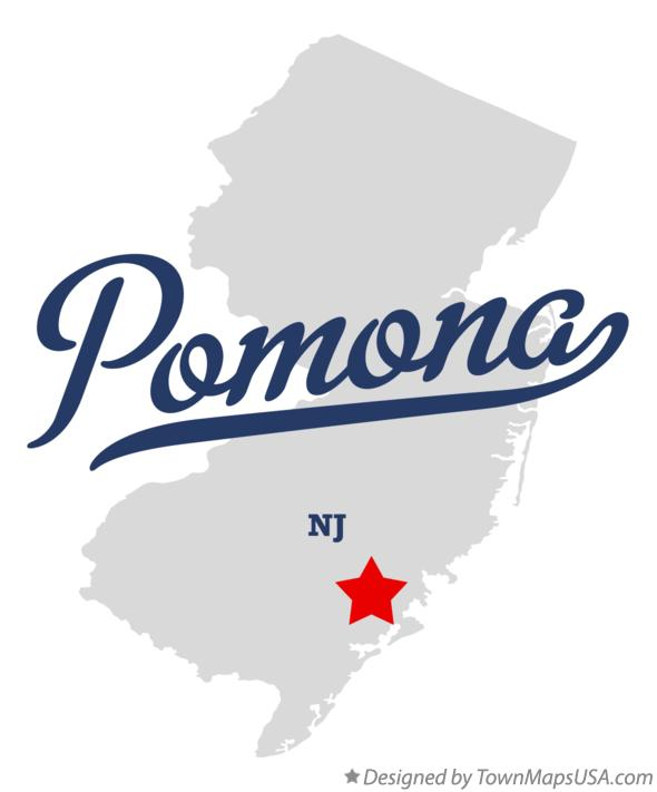Map of Pomona New Jersey NJ