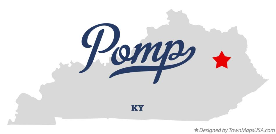 Map of Pomp Kentucky KY