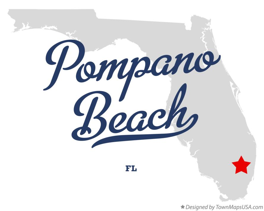 Map of Pompano Beach Florida FL