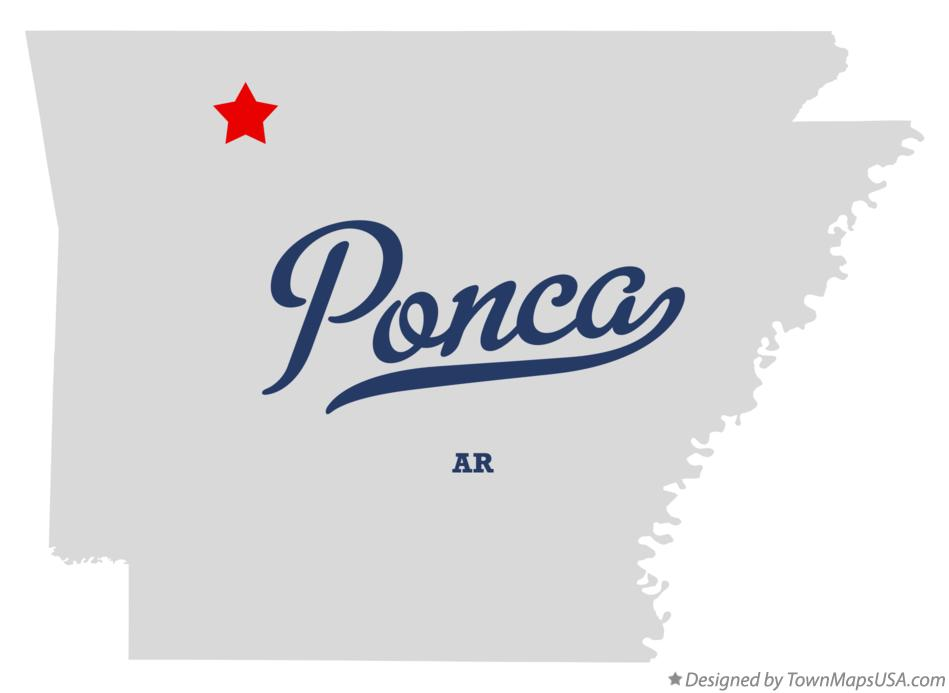 Map of Ponca Arkansas AR