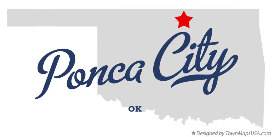 Map of Ponca City, OK, Oklahoma