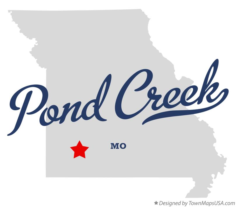 Map of Pond Creek Missouri MO