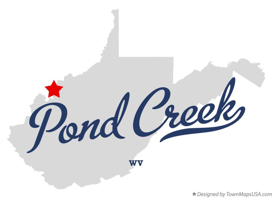 Map of Pond Creek West Virginia WV