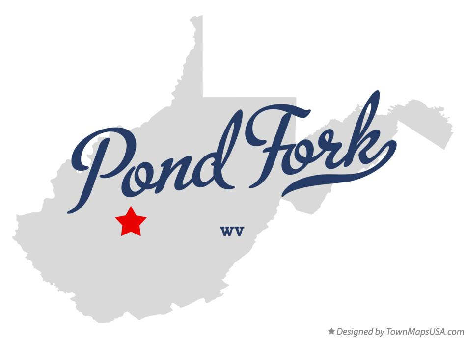 Map of Pond Fork West Virginia WV