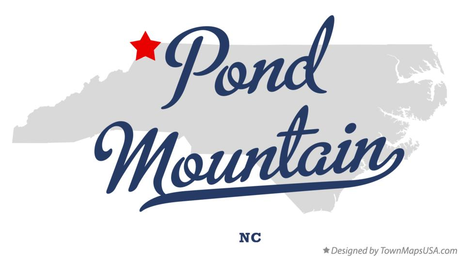 Map of Pond Mountain North Carolina NC