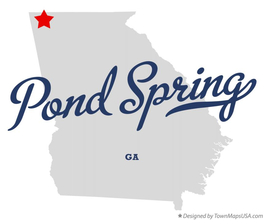 Map of Pond Spring Georgia GA