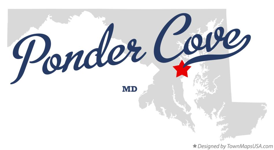 Map of Ponder Cove Maryland MD