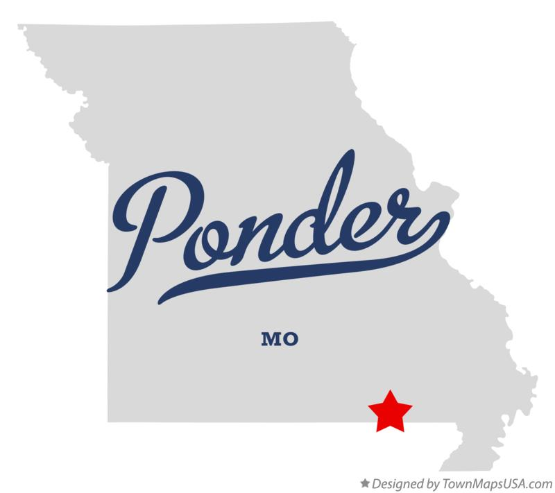 Map of Ponder Missouri MO