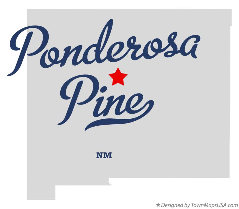 Map of Ponderosa Pine New Mexico NM