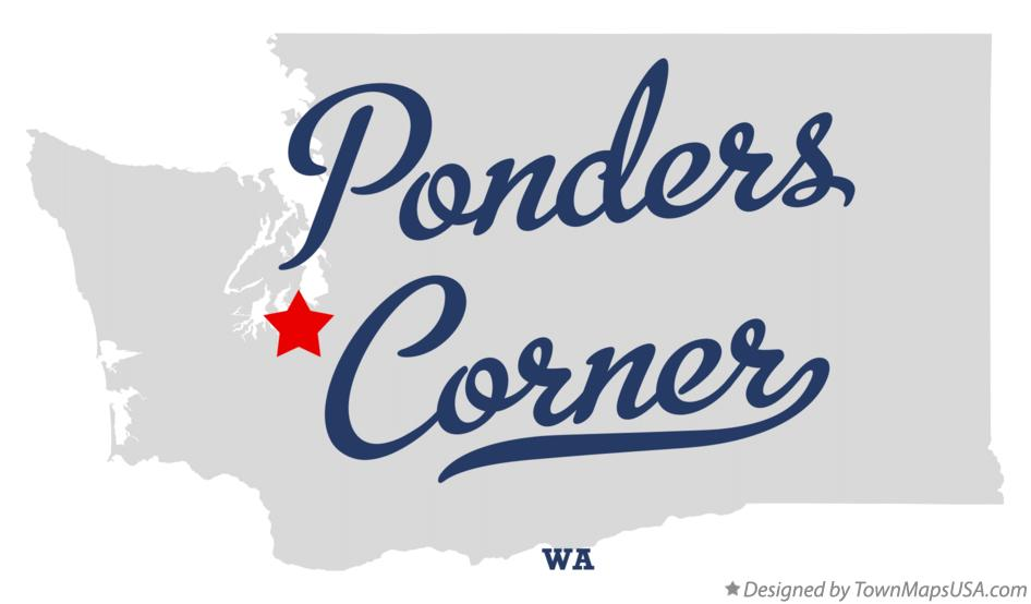 Map of Ponders Corner Washington WA