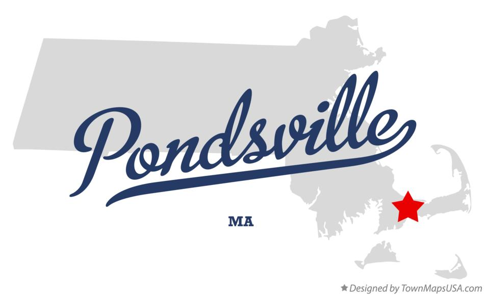Map of Pondsville Massachusetts MA