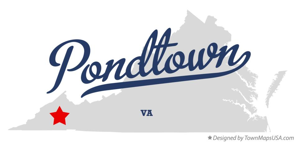Map of Pondtown Virginia VA