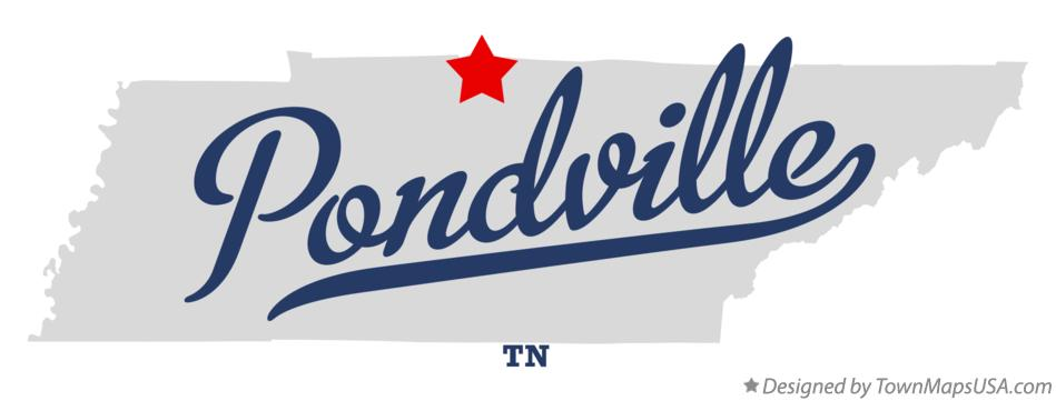 Map of Pondville Tennessee TN