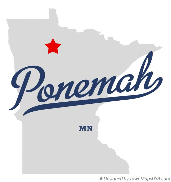Map of Ponemah Minnesota MN