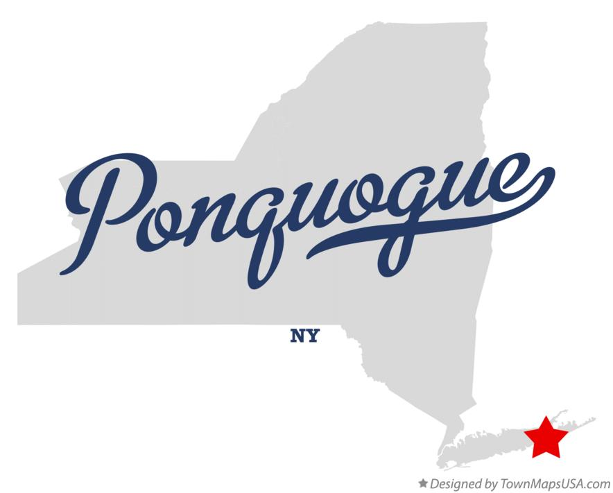 Map of Ponquogue New York NY