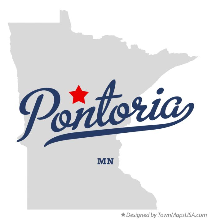 Map of Pontoria Minnesota MN