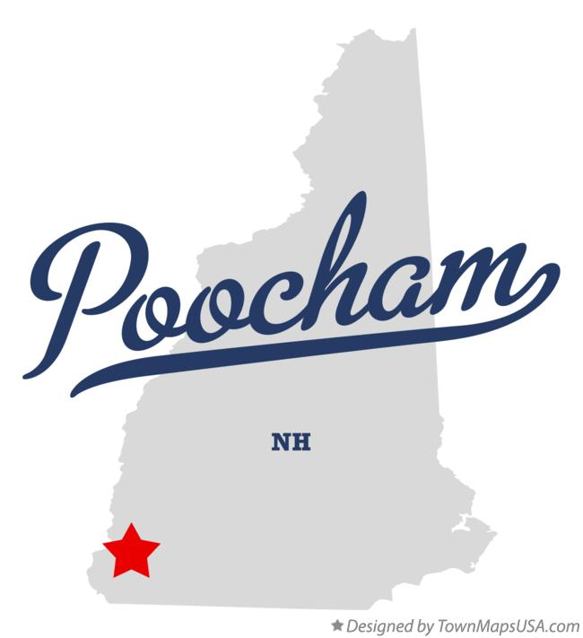 Map of Poocham New Hampshire NH