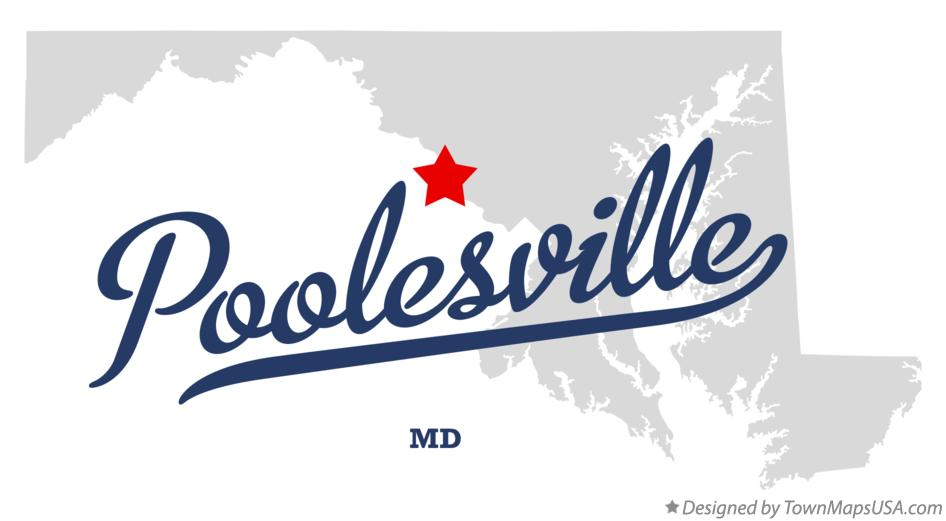 Map of Poolesville Maryland MD