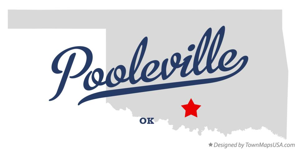 Map of Pooleville Oklahoma OK