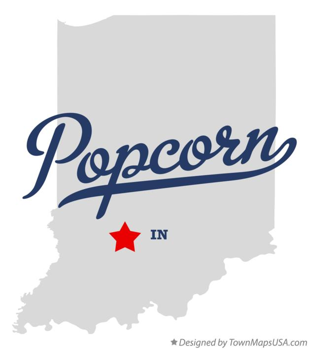 Map of Popcorn Indiana IN