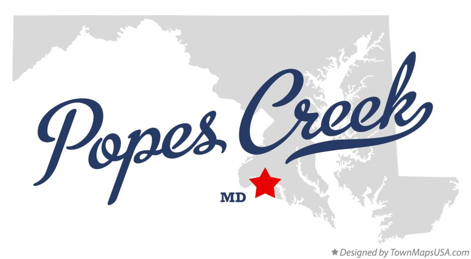 Map of Popes Creek Maryland MD