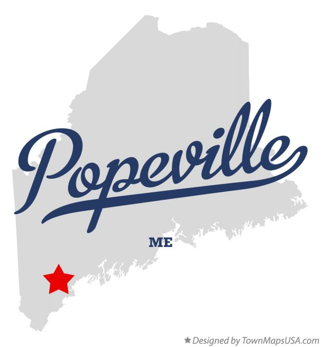 Map of Popeville Maine ME