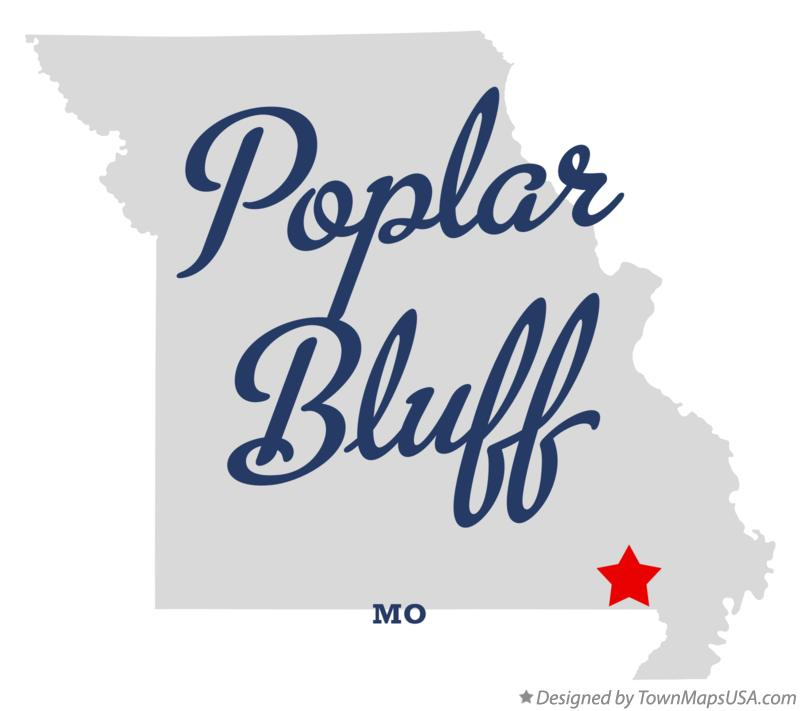Map of Poplar Bluff, MO, Missouri