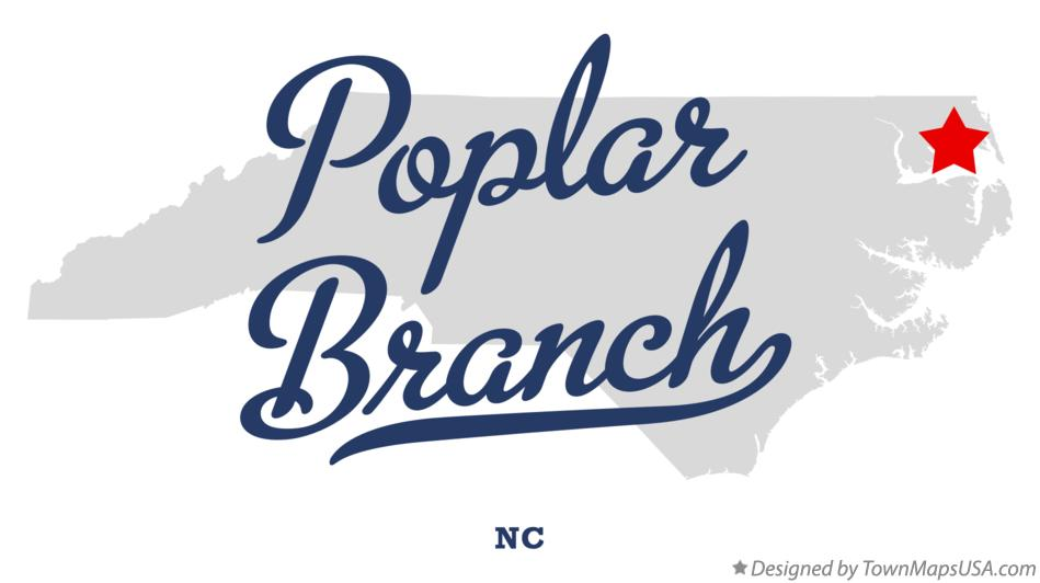 Map of Poplar Branch North Carolina NC