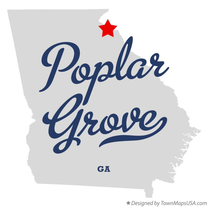 Map of Poplar Grove Georgia GA