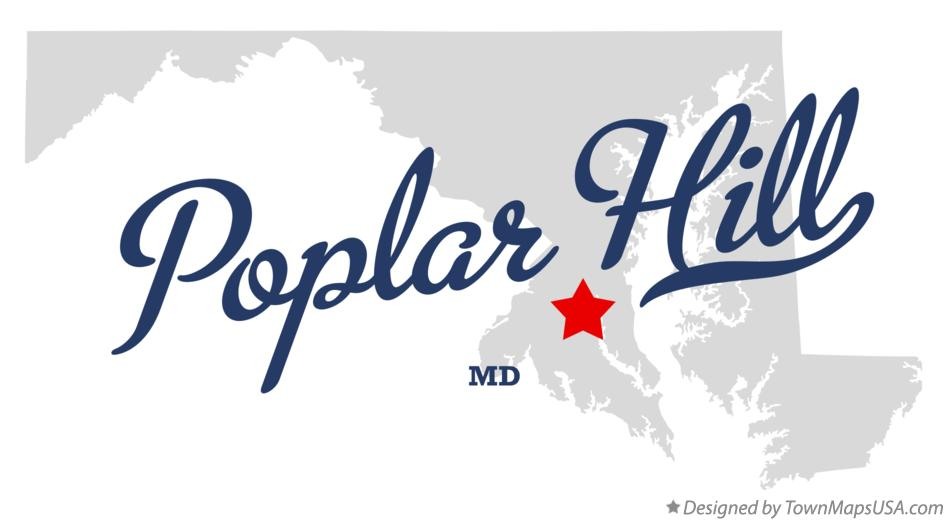 Map of Poplar Hill Maryland MD