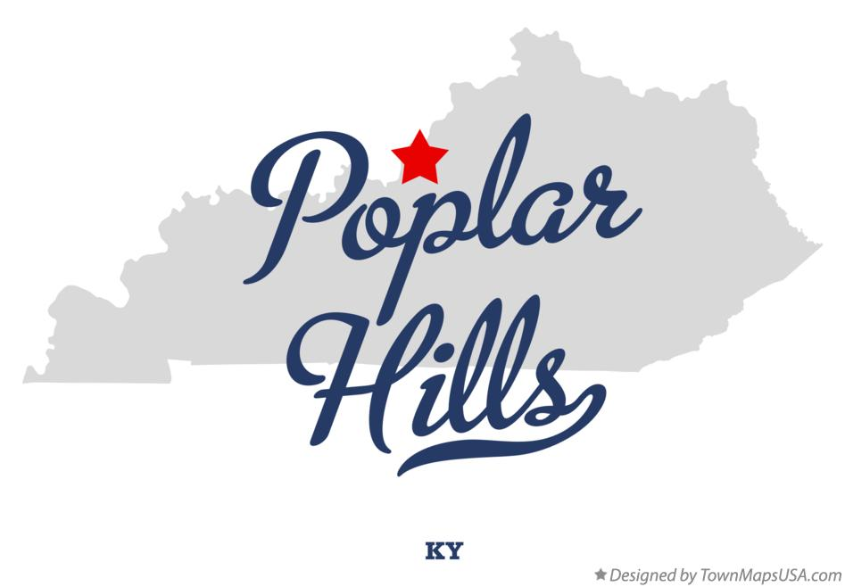 Map of Poplar Hills Kentucky KY