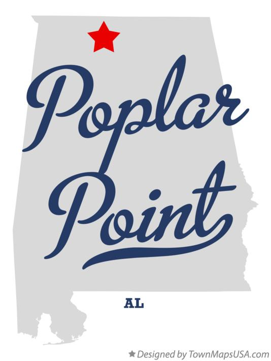 Map of Poplar Point Alabama AL