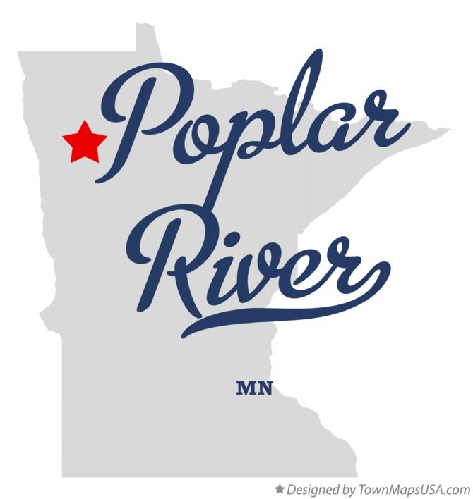Map of Poplar River Minnesota MN
