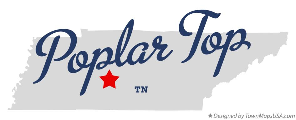 Map of Poplar Top Tennessee TN