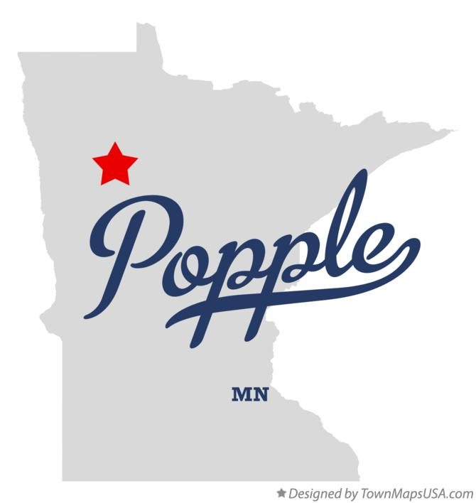 Map of Popple Minnesota MN