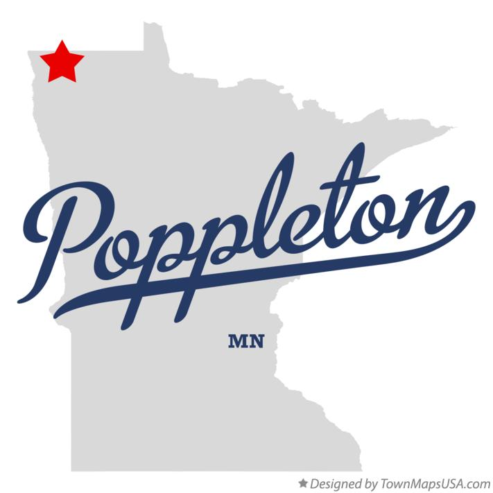 Map of Poppleton Minnesota MN